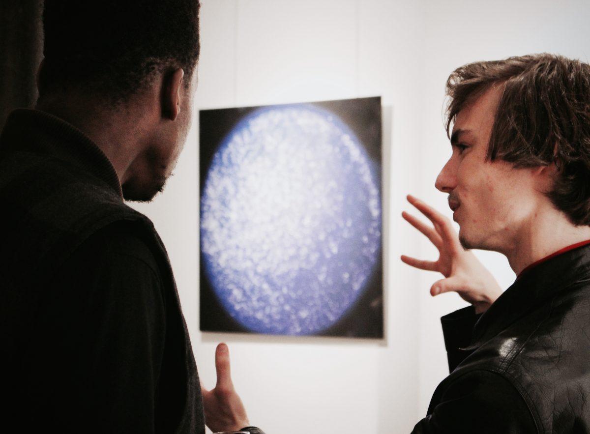 Thomas Leclere Zepry lors de Carte Blanche #1 à la D Galerie, Paris 2018