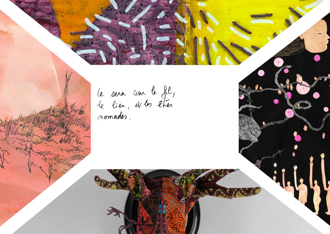 Ce sera sur le fil, le lien, et les etres nomades - D Galerie